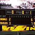 Scoreboard after 11-inning game for first-half title