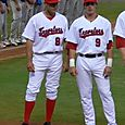 Peter Bourjos (left) and Ryan Mount